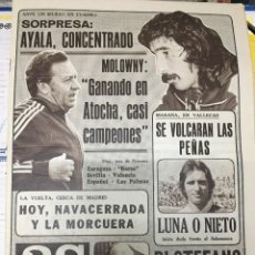 Coleccionismo deportivo: AS(12-5-1979)DI STEFANO VALENCIA REAL MADRID GRAZYNA RABSZTYN FINAL FA CUP ARSENAL MANCHESTER UNITED. Lote 243895055