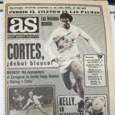 Coleccionismo deportivo: AS(6-5-1979)LAS PALMAS ATLETICO MADRID MESTALLA ZAIRE JUAN DE DIOS BALONMANO TENIS AUSTRALIA USA. Lote 243896725
