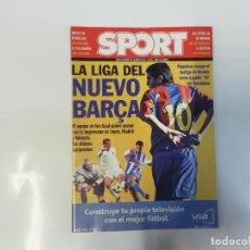 Coleccionismo deportivo: SPORT - SUPLEMENTO ESPECIAL LIGA 2002 - 2003 - LA LIGA DEL NUEVO BARÇA - VAN GAAL - FÚTBOL. Lote 243977250