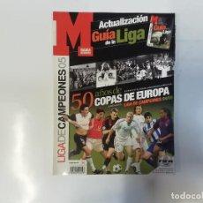 Coleccionismo deportivo: MARCA - LIGA DE CAMPEONES 05 - ACTUALIZACIÓN GUÍA DE LA LIGA - 50 AÑOS DE COPAS DE EUROPA. Lote 243981790