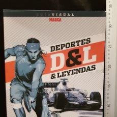 Coleccionismo deportivo: GUÍA VISUAL DEPORTES & LEYENDAS. MARCA. 70 ANIVERSARIO DIARIO MARCA (1938-2008). Lote 244023205