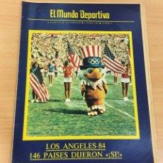 Coleccionismo deportivo: EL MUNDO DEPORTIVO - SUPLEMENTO DOMINICAL Nº 8 - 6 MARZO 1983 - OLIMPÍADAS LOS ÁNGELES 84. Lote 244436630