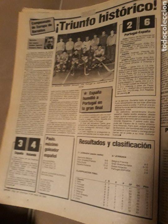 Coleccionismo deportivo: SPORT 5 DE MAYO 1985 . BARCA 2 R.SOCIEDAD 0 - HOCKEY . ESPAÑA CAMPEON DE EUROPA 6-2 A PORTUGAL - Foto 4 - 244628765
