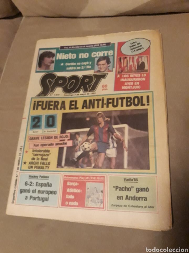 SPORT 5 DE MAYO 1985 . BARCA 2 R.SOCIEDAD 0 - HOCKEY . ESPAÑA CAMPEON DE EUROPA 6-2 A PORTUGAL (Coleccionismo Deportivo - Revistas y Periódicos - Sport)