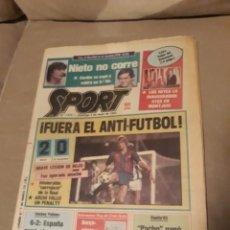 Coleccionismo deportivo: SPORT 5 DE MAYO 1985 . BARCA 2 R.SOCIEDAD 0 - HOCKEY . ESPAÑA CAMPEON DE EUROPA 6-2 A PORTUGAL. Lote 244628765