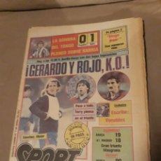 Coleccionismo deportivo: SPORT 7 DE ABRIL 1985 .ESPAÑOL 0 BETIS 1 - URRUTI - URBANO - INTER REAL MADRID DUELO CONTINENTAL. Lote 244628795