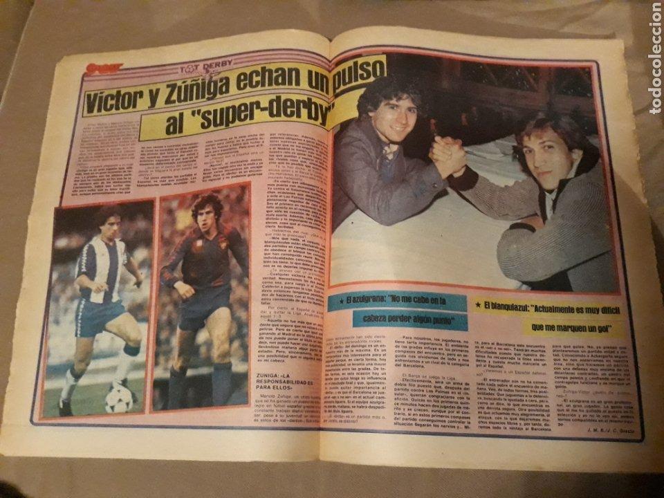 Coleccionismo deportivo: SPORT 21 ABRIL 1984 . DERBY BARCA - ESPAÑOL . ARBITRO PES PEREZ . VICTOR Y ZUÑIGA SUPER - DERBY - Foto 3 - 244628820
