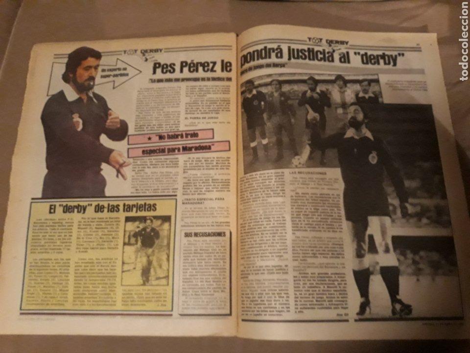Coleccionismo deportivo: SPORT 21 ABRIL 1984 . DERBY BARCA - ESPAÑOL . ARBITRO PES PEREZ . VICTOR Y ZUÑIGA SUPER - DERBY - Foto 4 - 244628820