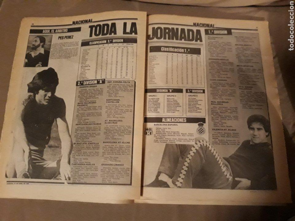 Coleccionismo deportivo: SPORT 21 ABRIL 1984 . DERBY BARCA - ESPAÑOL . ARBITRO PES PEREZ . VICTOR Y ZUÑIGA SUPER - DERBY - Foto 5 - 244628820