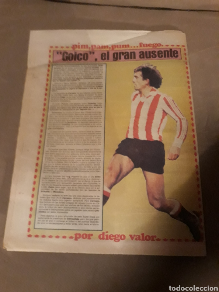 Coleccionismo deportivo: SPORT 29 NOVIEMBRE 1983 .SUPERCOPA BARCA - BILBAO .JULIO ALBERTO ACUSA CLEMENTE ES UN COBARDE. GOICO - Foto 2 - 244628910