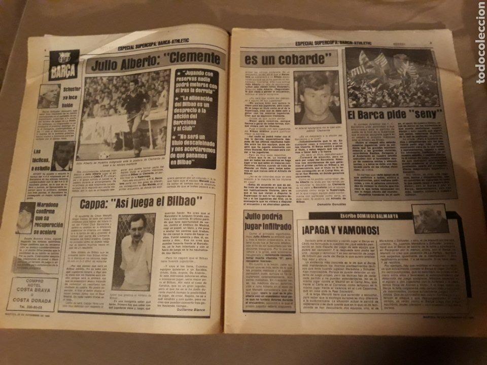 Coleccionismo deportivo: SPORT 29 NOVIEMBRE 1983 .SUPERCOPA BARCA - BILBAO .JULIO ALBERTO ACUSA CLEMENTE ES UN COBARDE. GOICO - Foto 4 - 244628910