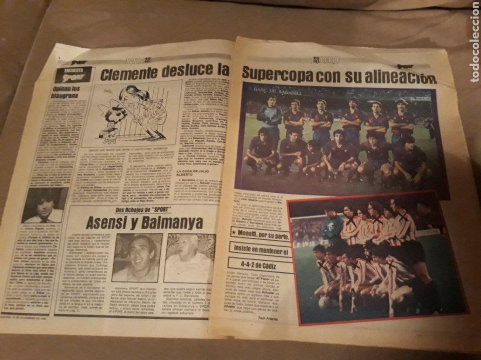 Coleccionismo deportivo: SPORT 29 NOVIEMBRE 1983 .SUPERCOPA BARCA - BILBAO .JULIO ALBERTO ACUSA CLEMENTE ES UN COBARDE. GOICO - Foto 5 - 244628910
