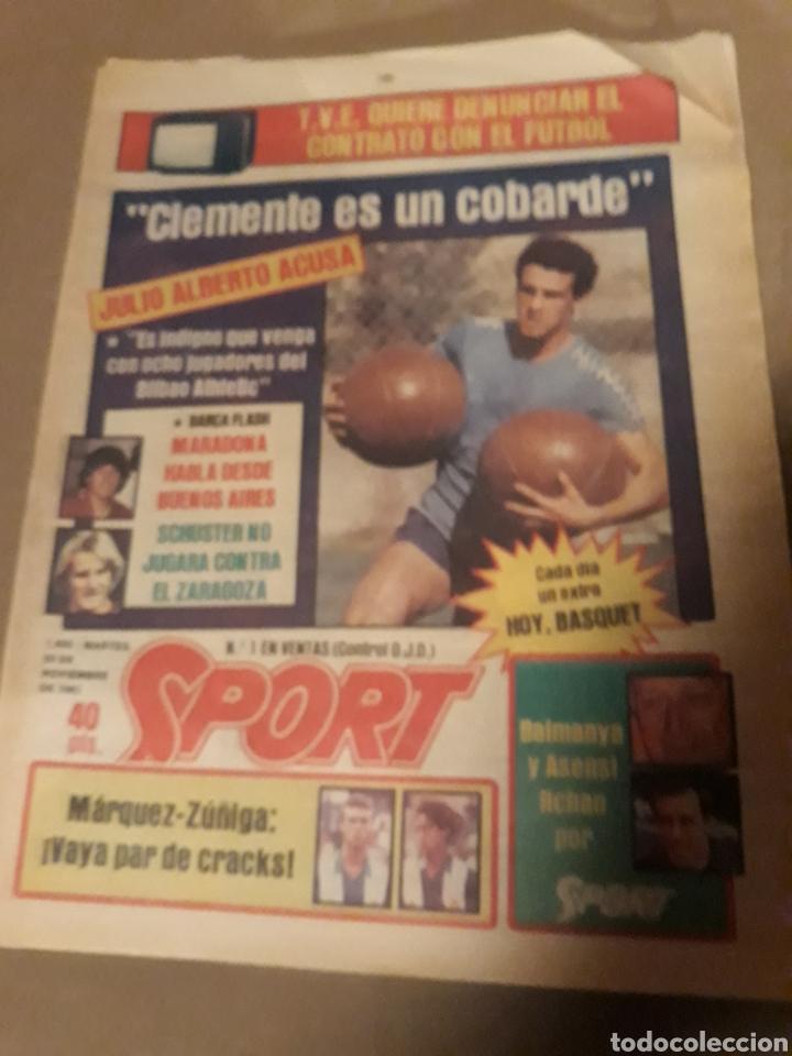 SPORT 29 NOVIEMBRE 1983 .SUPERCOPA BARCA - BILBAO .JULIO ALBERTO ACUSA CLEMENTE ES UN COBARDE. GOICO (Coleccionismo Deportivo - Revistas y Periódicos - Sport)