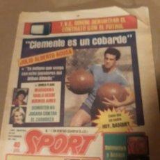 Coleccionismo deportivo: SPORT 29 NOVIEMBRE 1983 .SUPERCOPA BARCA - BILBAO .JULIO ALBERTO ACUSA CLEMENTE ES UN COBARDE. GOICO. Lote 244628910