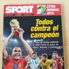 Coleccionismo deportivo: EXTRA MUNDIAL BRASIL 2014. SPORT. NUEVO. Lote 244641400