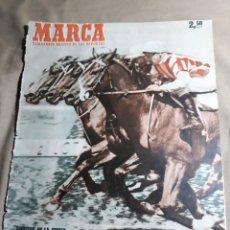 Coleccionismo deportivo: MARCA 1951 . R.MADRID 4 BARCELONA 1. ESPAÑOL 8 LERIDA 0 . DESFILE DE EQUIPOS. EMERITENSE Y CACEREÑO. Lote 244914045