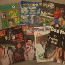 Coleccionismo deportivo: LOTE DE 7 REVISTAS DEPORTIVAS, DON BALON, AS COLOR, REAL MADRID... AÑOS 80 + 8 GUÍAS MARCA. Lote 244918685
