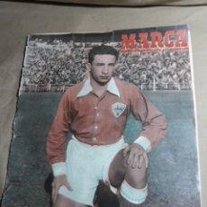 Coleccionismo deportivo: MARCA 1951- BARCELONA 7 MALAGA 2 .AT.MADRID 7 LERIDA 1. DESFILE DE EQUIPOS REAL CLUB DE TENIS TURO.. Lote 244978230