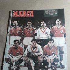 Coleccionismo deportivo: MARCA 1951.ESPAÑA CAMPEON DEL MUNDO HOCKEY DESFILE EQUIPOS SELECCION MADRILEÑA Y CATALANA BALONCESTO. Lote 244990695