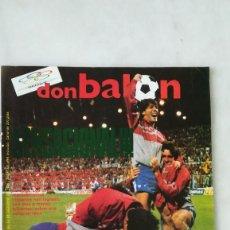 Coleccionismo deportivo: DON BALÓN, PARTIDOS COPAS EUROPEAS,, VALVERDE, SUB21. 1986. Lote 245039870