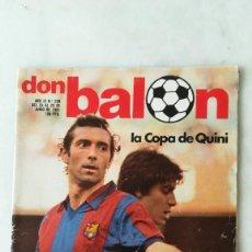 Coleccionismo deportivo: DON BALÓN LA COPA DE QUINI, REAL SOCIEDAD, SPORTING GIJON, ETC. 1981. Lote 245047660