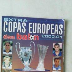 Coleccionismo deportivo: DON BALÓN EXTRA COPAS EUROPEAS 2000-01. Lote 245049860