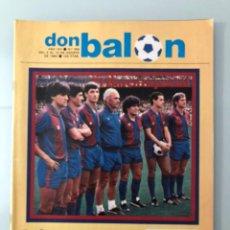 Coleccionismo deportivo: DON BALÓN 356 (AGOSTO 1982) BARCELONA. EXPÓSITO. MIGUEL MUÑOZ. TREVOR FRANCIS. ESPANYOL.. Lote 245072255