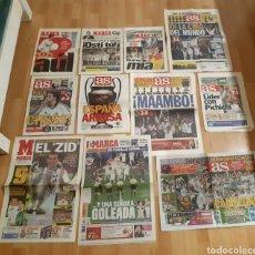 Coleccionismo deportivo: PERIÓDICOS REAL MADRID. GRANDES GESTAS Y GOLES HISTÓRICOS. Lote 245192765