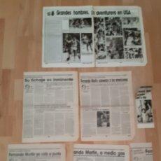 Coleccionismo deportivo: RECORTES PERIÓDICO FICHAJE FERNANDO MARTÍN POR LA NBA. Lote 245218840