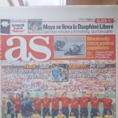 Coleccionismo deportivo: DIARIO AS 14/06/2004 EUROCOPA 2004 PORTUGAL - ESPAÑA - GRECIA / INGLATERRA - FRANCIA. Lote 245252200