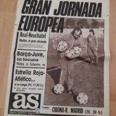 Coleccionismo deportivo: 5-III-1986 DIARIO AS.VUELTA ULRICH STIELIKE COMO ENTRENADOR AL SANTIAGO BERNABEU. Lote 245278285