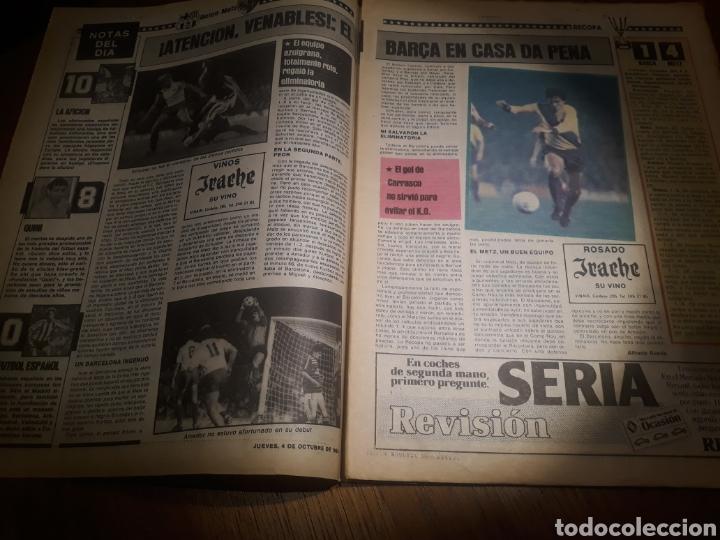Coleccionismo deportivo: SPORT 4 DE OCTUBRE DE 1984 . BARCELONA 1 METZ 4 - AT.MADRID 2 SION 3 CAPITULO 2 VIDA DE QUINI. - Foto 2 - 245481945