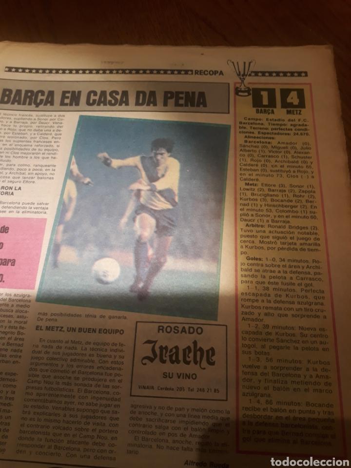 Coleccionismo deportivo: SPORT 4 DE OCTUBRE DE 1984 . BARCELONA 1 METZ 4 - AT.MADRID 2 SION 3 CAPITULO 2 VIDA DE QUINI. - Foto 3 - 245481945