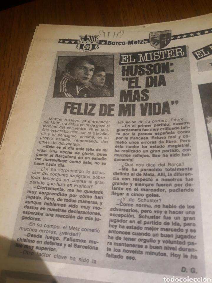 Coleccionismo deportivo: SPORT 4 DE OCTUBRE DE 1984 . BARCELONA 1 METZ 4 - AT.MADRID 2 SION 3 CAPITULO 2 VIDA DE QUINI. - Foto 5 - 245481945