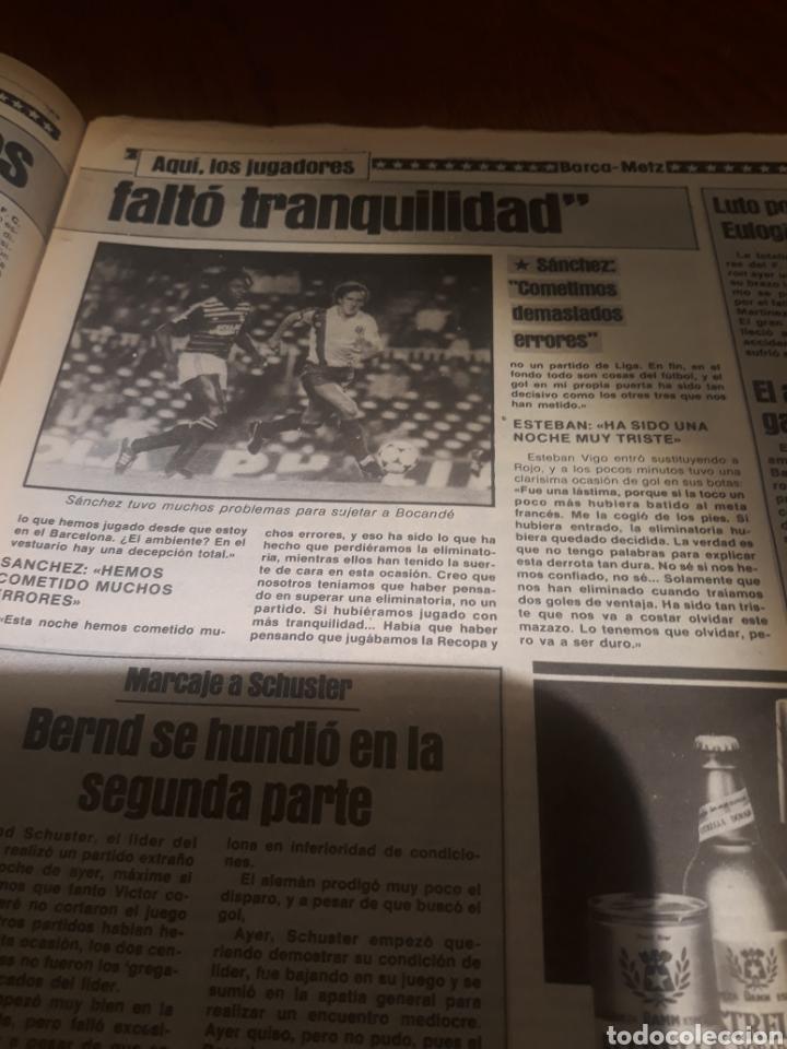 Coleccionismo deportivo: SPORT 4 DE OCTUBRE DE 1984 . BARCELONA 1 METZ 4 - AT.MADRID 2 SION 3 CAPITULO 2 VIDA DE QUINI. - Foto 7 - 245481945