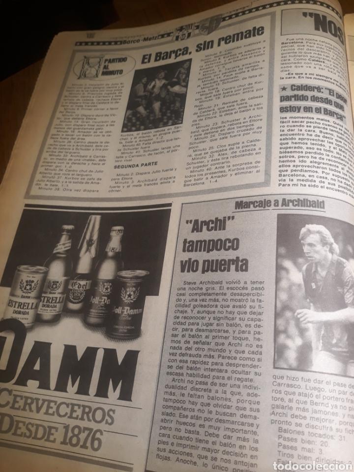 Coleccionismo deportivo: SPORT 4 DE OCTUBRE DE 1984 . BARCELONA 1 METZ 4 - AT.MADRID 2 SION 3 CAPITULO 2 VIDA DE QUINI. - Foto 8 - 245481945
