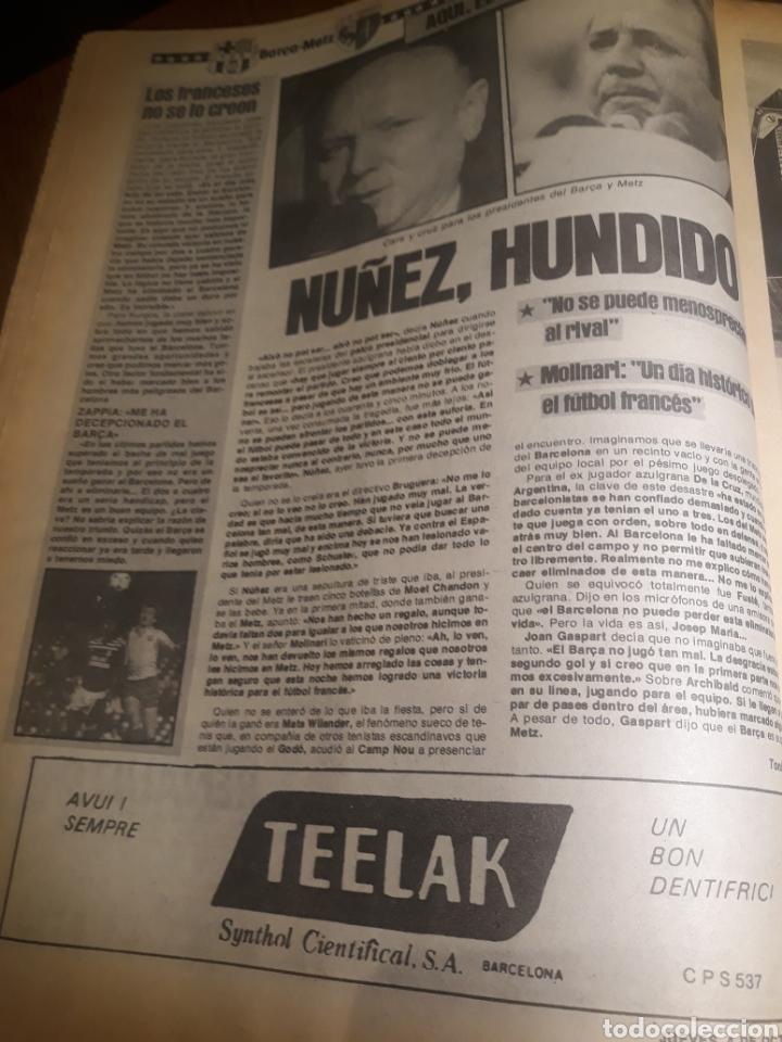 Coleccionismo deportivo: SPORT 4 DE OCTUBRE DE 1984 . BARCELONA 1 METZ 4 - AT.MADRID 2 SION 3 CAPITULO 2 VIDA DE QUINI. - Foto 9 - 245481945