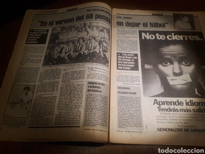 Coleccionismo deportivo: SPORT 4 DE OCTUBRE DE 1984 . BARCELONA 1 METZ 4 - AT.MADRID 2 SION 3 CAPITULO 2 VIDA DE QUINI. - Foto 10 - 245481945