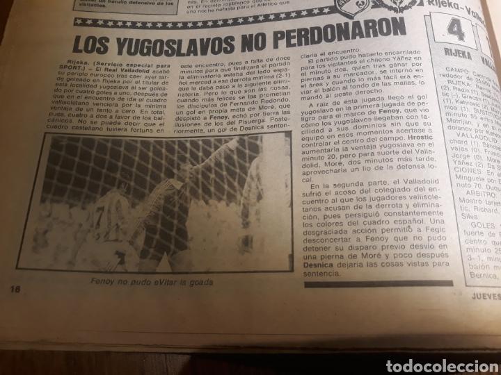 Coleccionismo deportivo: SPORT 4 DE OCTUBRE DE 1984 . BARCELONA 1 METZ 4 - AT.MADRID 2 SION 3 CAPITULO 2 VIDA DE QUINI. - Foto 13 - 245481945