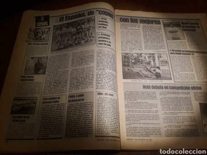 Coleccionismo deportivo: SPORT 4 DE OCTUBRE DE 1984 . BARCELONA 1 METZ 4 - AT.MADRID 2 SION 3 CAPITULO 2 VIDA DE QUINI. - Foto 15 - 245481945