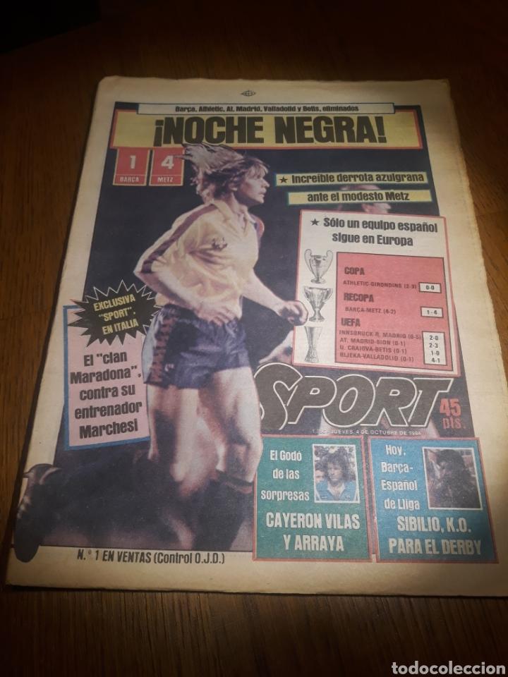 SPORT 4 DE OCTUBRE DE 1984 . BARCELONA 1 METZ 4 - AT.MADRID 2 SION 3 CAPITULO 2 VIDA DE QUINI. (Coleccionismo Deportivo - Revistas y Periódicos - Sport)