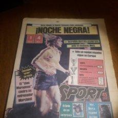 Coleccionismo deportivo: SPORT 4 DE OCTUBRE DE 1984 . BARCELONA 1 METZ 4 - AT.MADRID 2 SION 3 CAPITULO 2 VIDA DE QUINI.. Lote 245481945