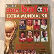 Coleccionismo deportivo: FÚTBOL DON BALÓN EXTRA 39 - MUNDIAL FRANCIA 98 - WORLD CUP FRANCE 1998 - ALBUM ZIDANE RONALDO BRASIL. Lote 245520700