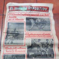 Coleccionismo deportivo: DIARIO EL MUNDO DEPORTIVO DEL 6 DE MARZO DE 1966 EL ESPAÑOL EUFORICO. Lote 245761910