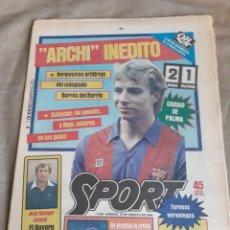 Coleccionismo deportivo: SPORT 18 AGOSTO 1984. BARCA 2 WATFORD 1 - AT.MADRID 84-85 COLECCIONABLE SPORT. Lote 245767965