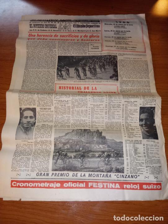 Coleccionismo deportivo: DIARIO EL MUNDO DEPORTIVO DEL 26 DE FEBRERO DE 1966 ARGILAGA CESA COMO ENTRENADOR DEL ESPAÑOL - Foto 5 - 245990185