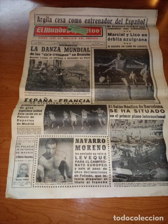 DIARIO EL MUNDO DEPORTIVO DEL 26 DE FEBRERO DE 1966 ARGILAGA CESA COMO ENTRENADOR DEL ESPAÑOL (Coleccionismo Deportivo - Revistas y Periódicos - Mundo Deportivo)