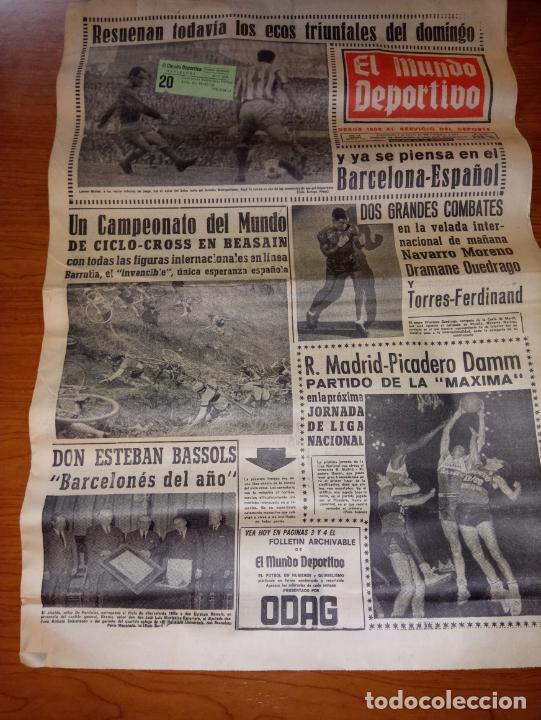 EL MUNDO DEPORTIVO DEL 9 DE FEBRERO DE 1966 RESUENAN TODAVIA LOS ECOS TRIUNFALES DEL DOMINGO (Coleccionismo Deportivo - Revistas y Periódicos - Mundo Deportivo)
