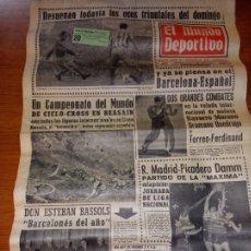 Coleccionismo deportivo: EL MUNDO DEPORTIVO DEL 9 DE FEBRERO DE 1966 RESUENAN TODAVIA LOS ECOS TRIUNFALES DEL DOMINGO. Lote 246001145