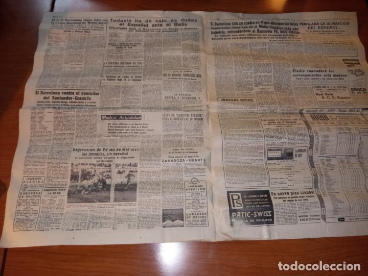 Coleccionismo deportivo: EL MUNDO DEPORTIVO DEL 3 DE MARZO DE 1966 BARCELONA Y ESPAÑOL EN HANNOVER - Foto 2 - 246001780